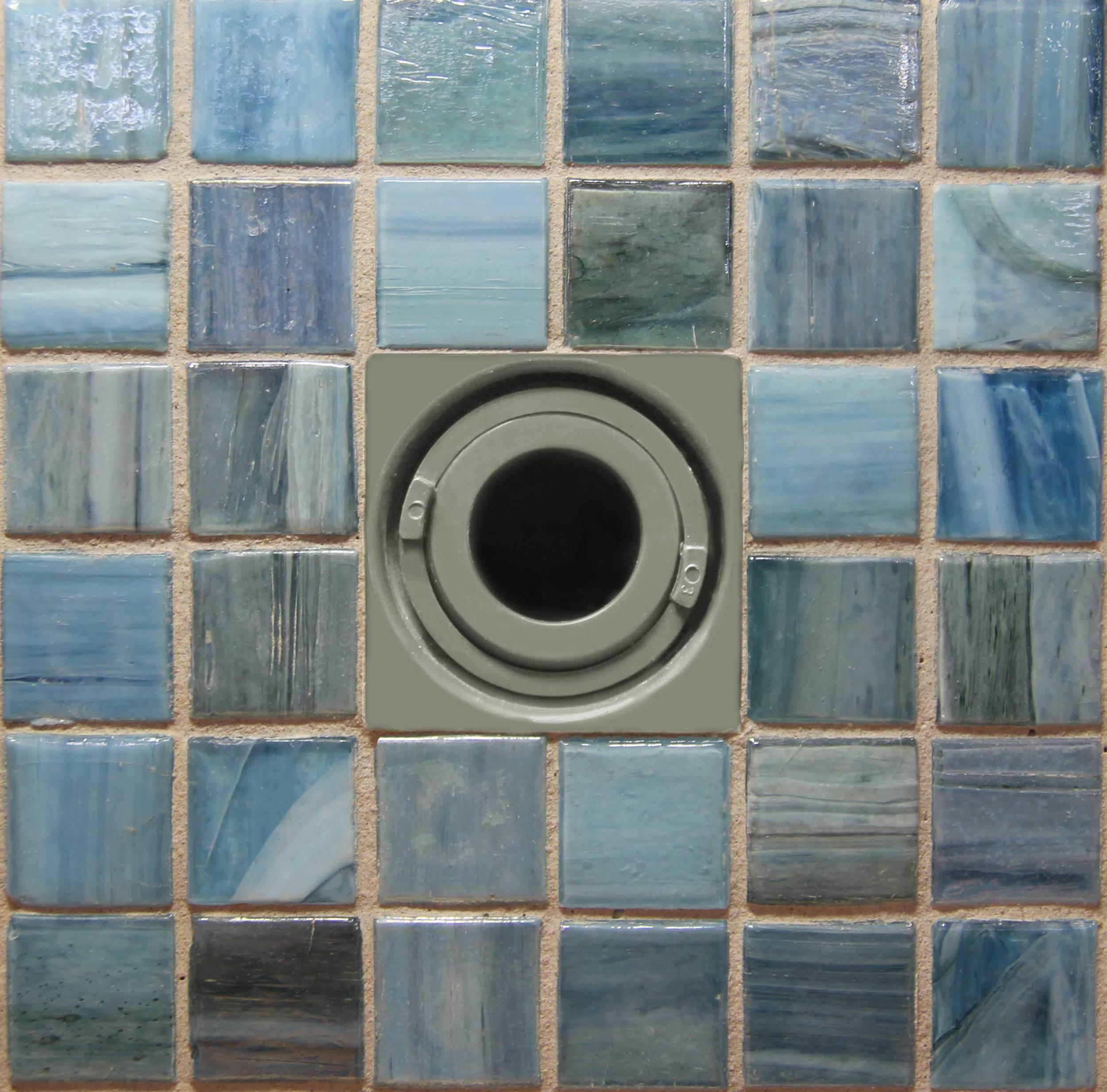 Square Flush Mount Return Fitting Tiled