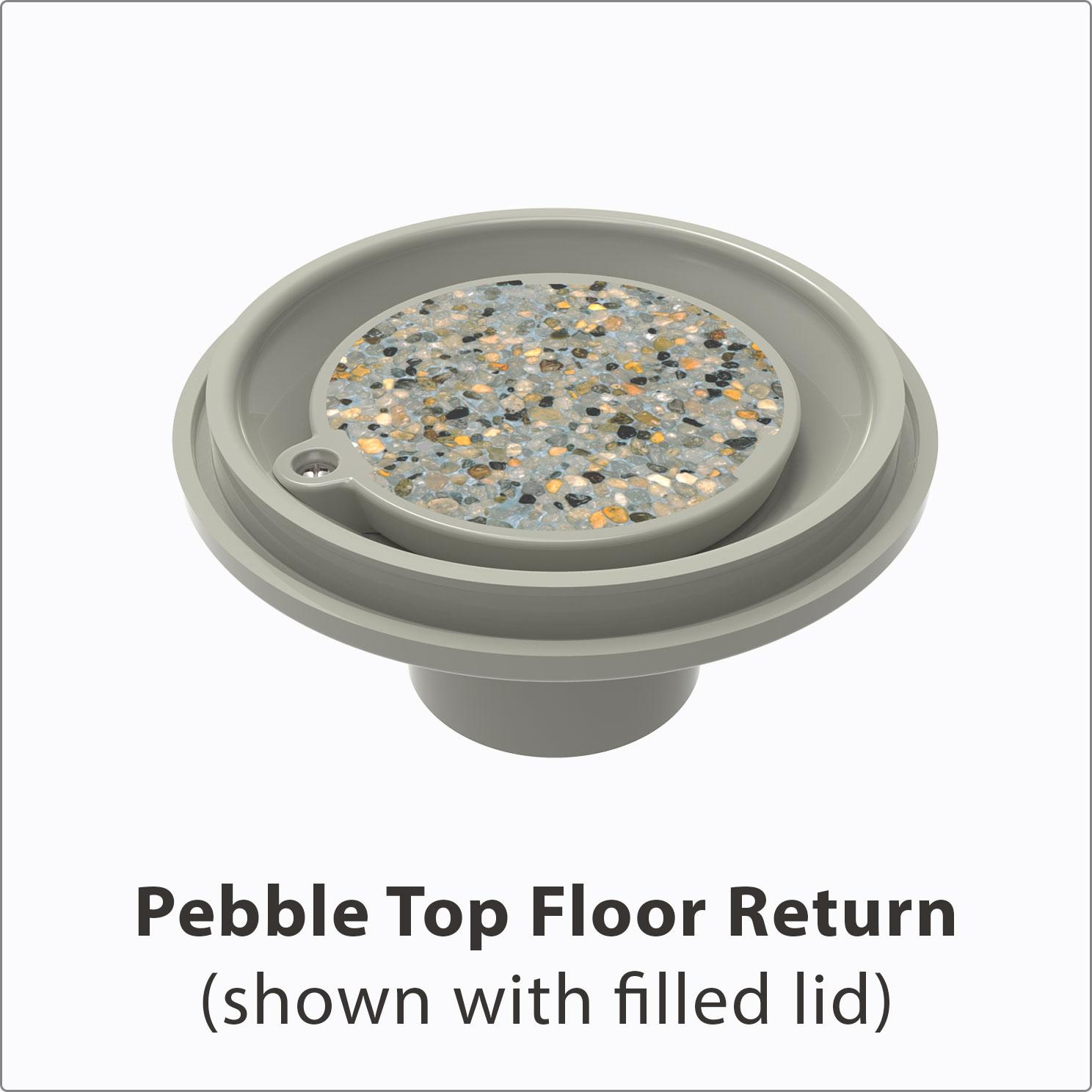 Pebble Top Floor Return Filled