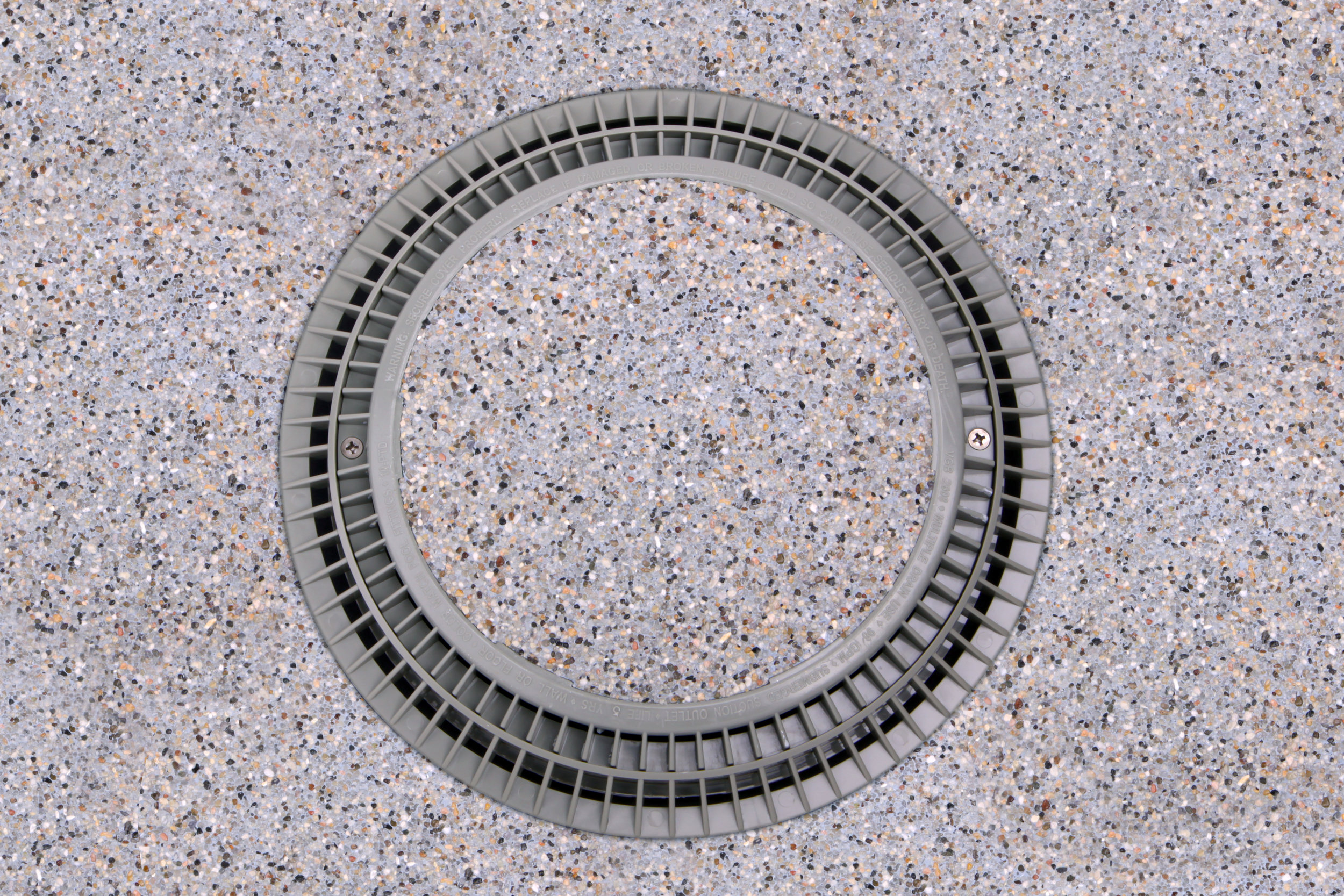 Pebble Top Drain Cover filled