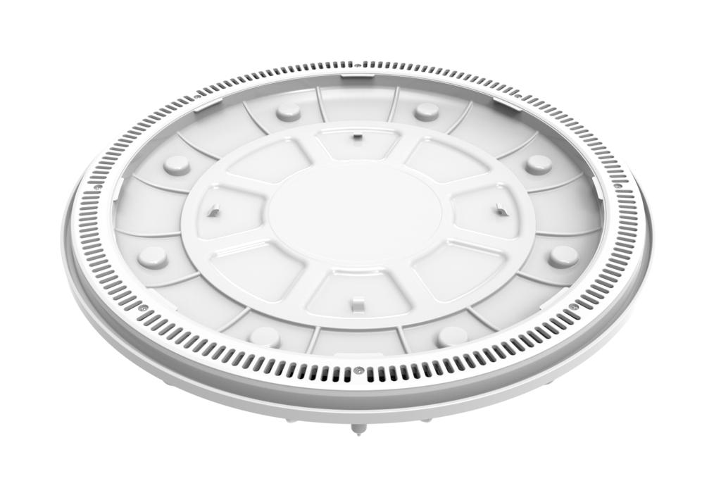 White 360 Pebble Top Drain