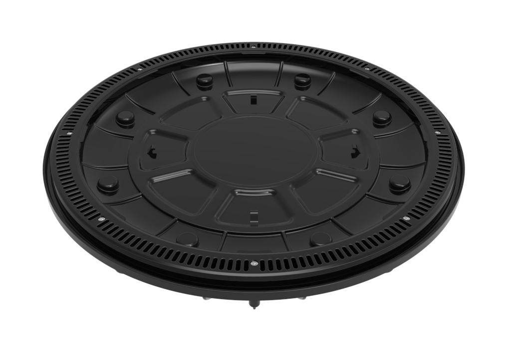 Black 360 Pebble Top Drain