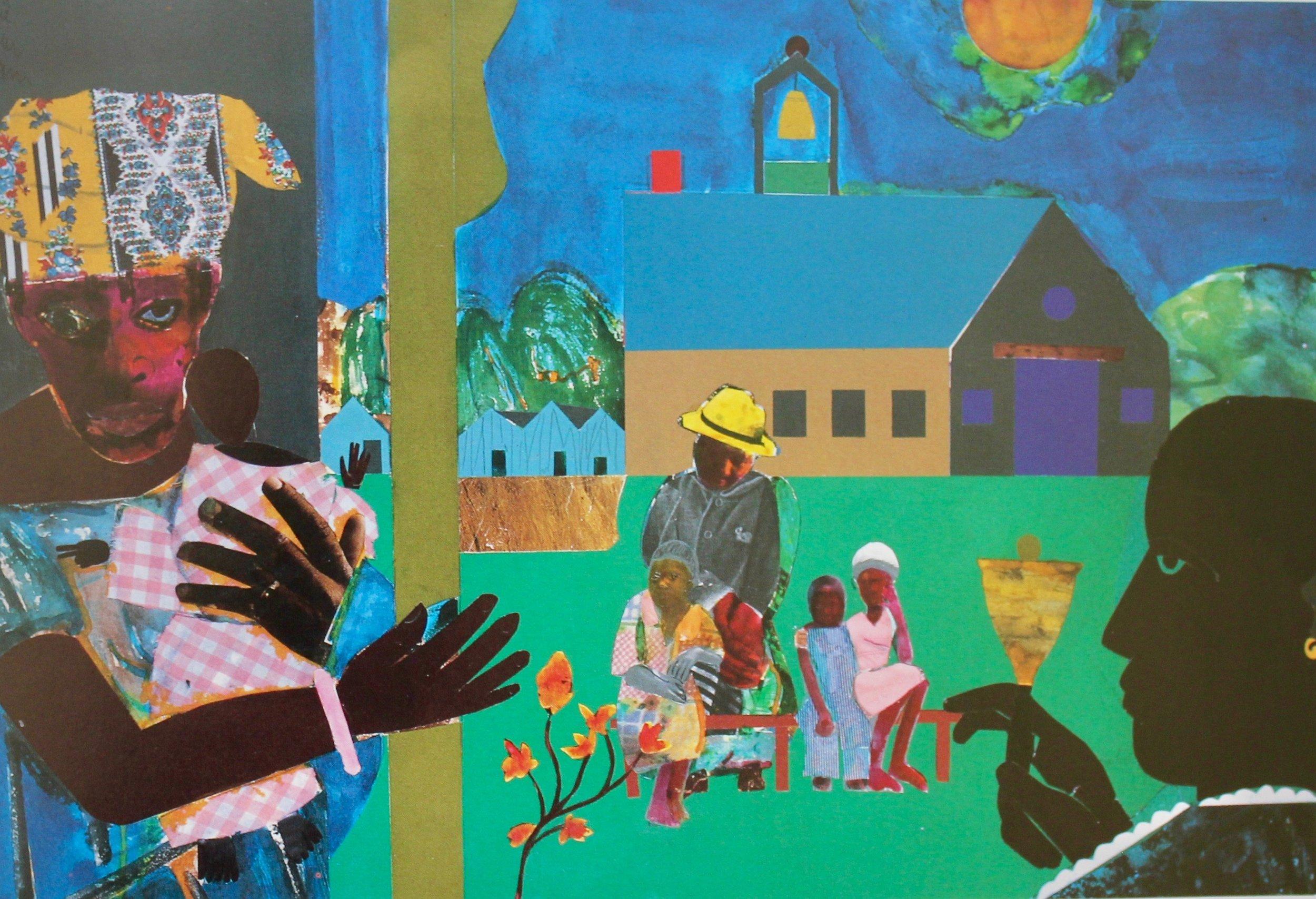 """""""School Bell Time"""" by Romare Bearden"""