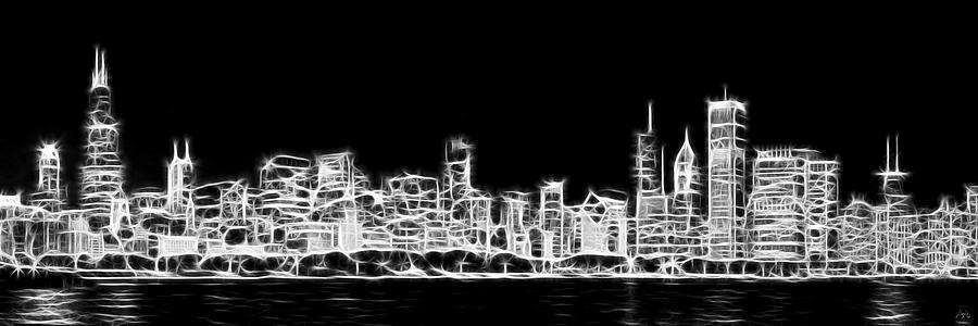 Photo Credit: Fine Art America,   Chicago Skyline Panoramic Fractal Art by Adam Romanowicz