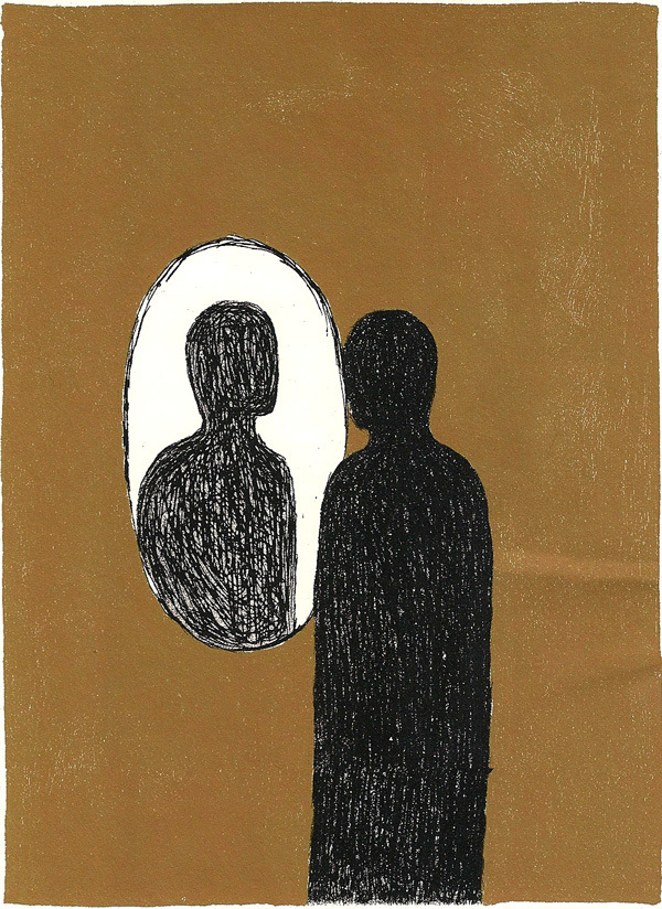 Illustration by Mimmo Paladino for a rare edition of James Joyce's Ulysses