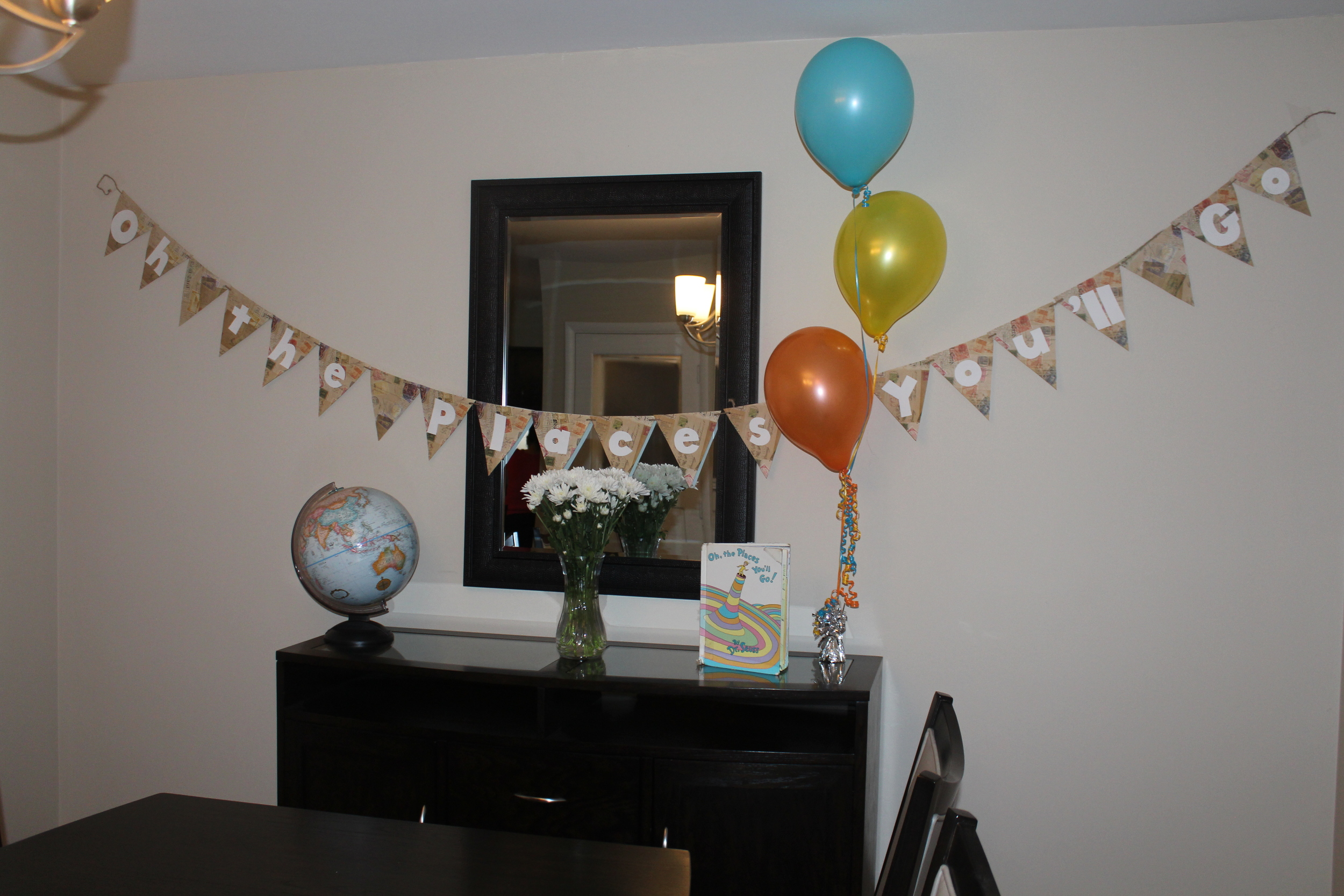Really loved the decorations my sister used. She knows me well!