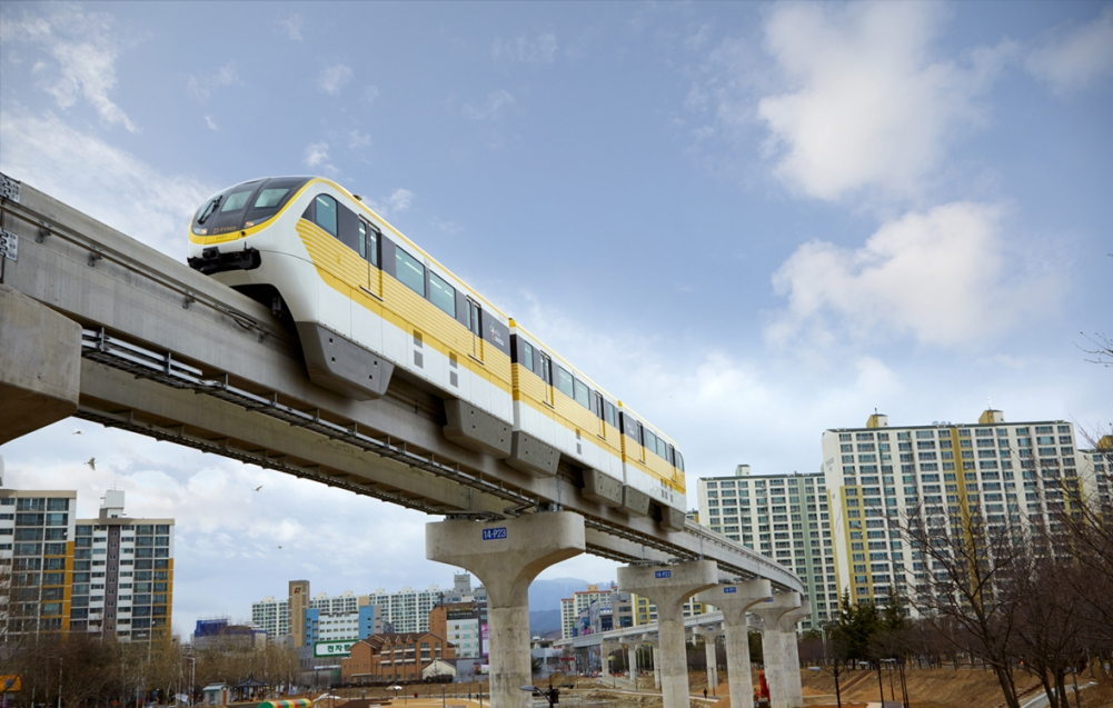 Daegu's monorail, the subway system I ride on a daily basis.