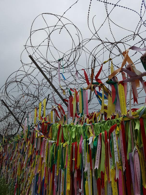 The ribbons at Freedom Bridge