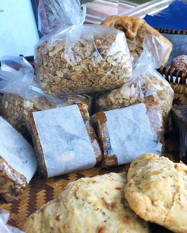 Granola, Biscuits & Crow Bars galore! Delicious goodies from @crowsbakery • Come get it at the Ludlow Farmers Market this Friday! Open from 4 to 7 p.m. #ShopLocal