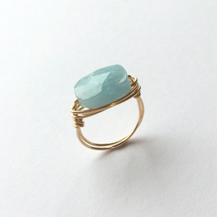 Aquamarine ring £54.00