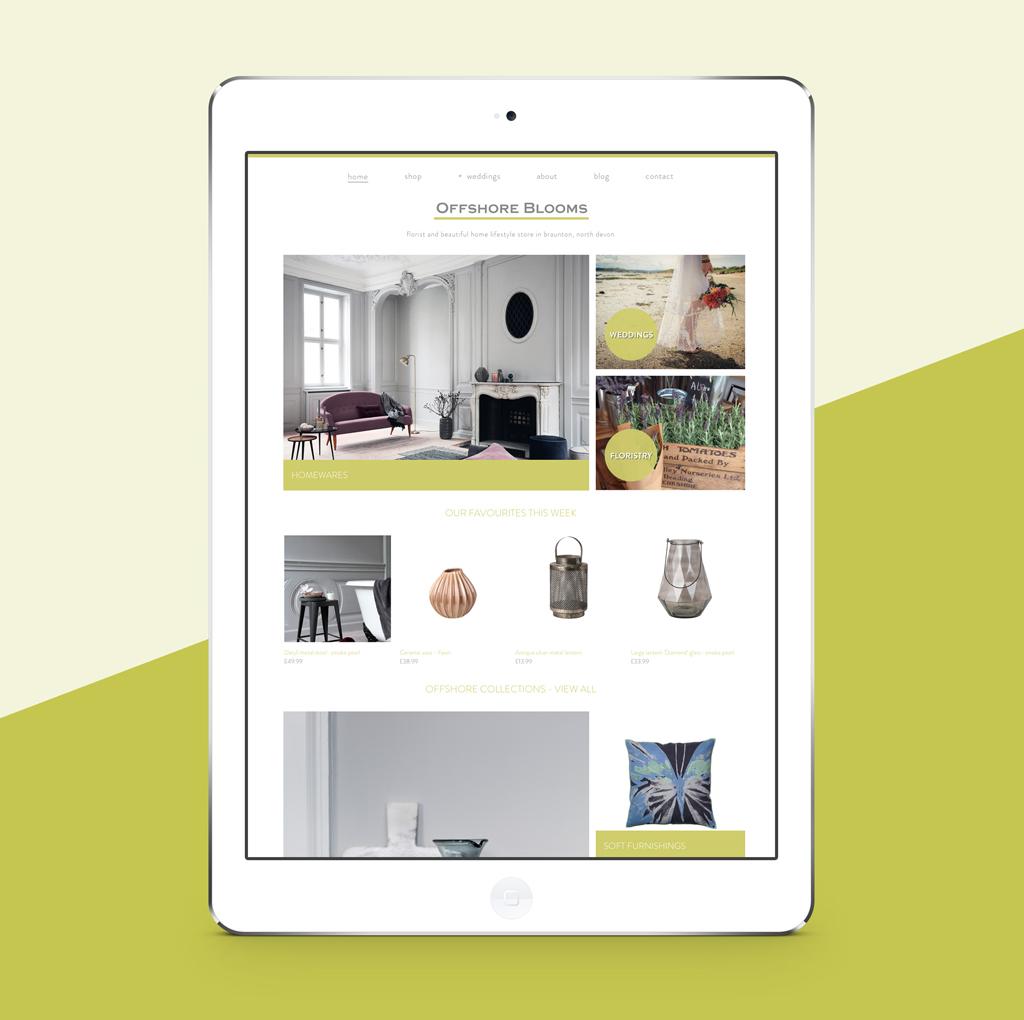 Offshore Blooms website designed by SunSide Studio