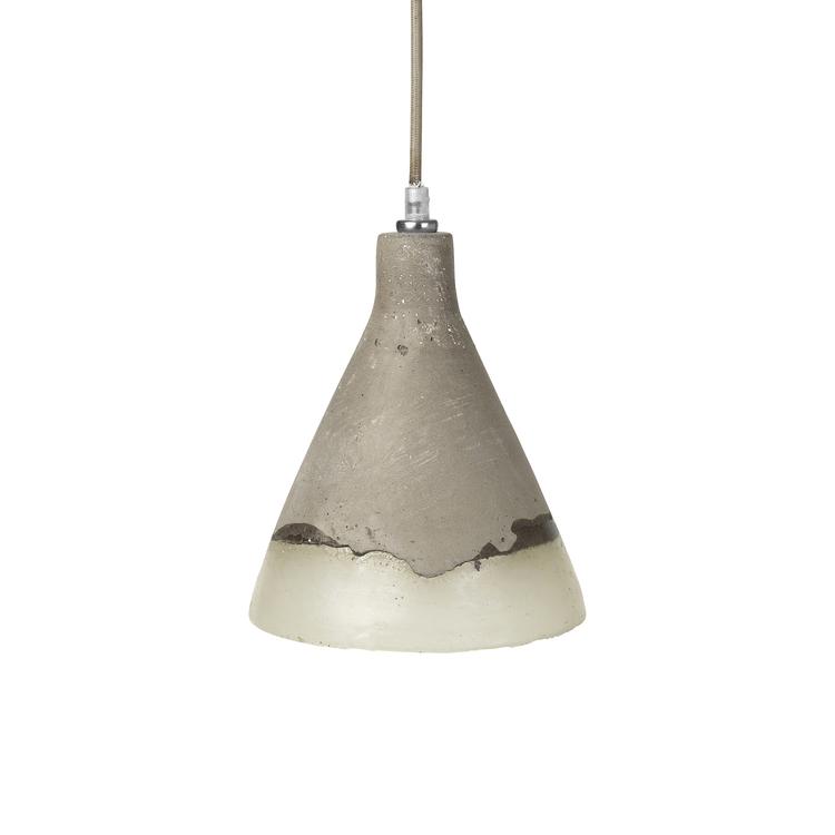 Broste Ceiling lamp, concrete/poly - £66.99
