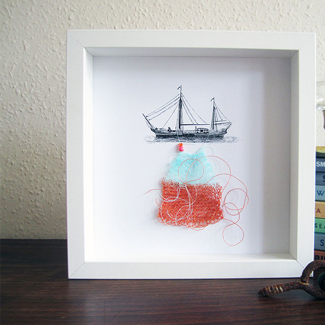 Nautical Knitted Collage [Flotilla 11, Boat 6 of 13]