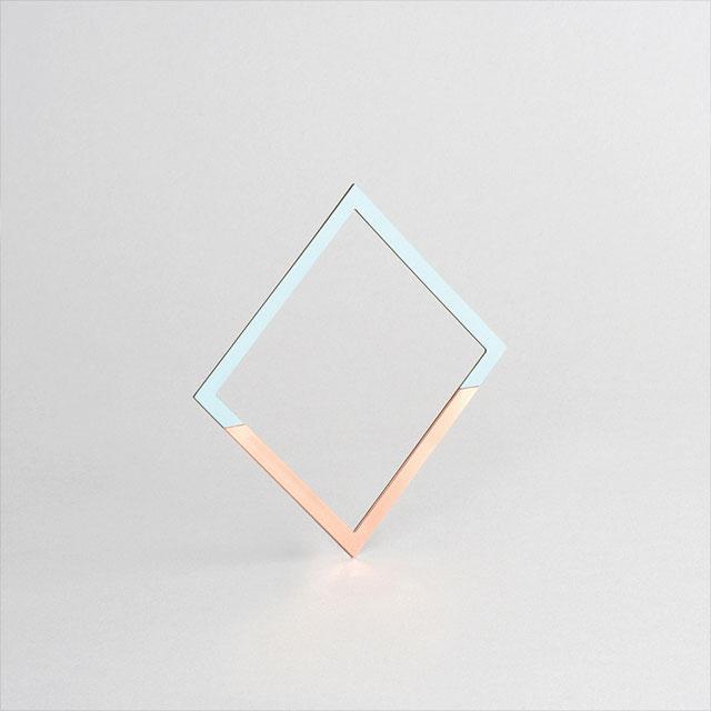 Tom Pigeon Form Square Bangle | Copper & Mint £30