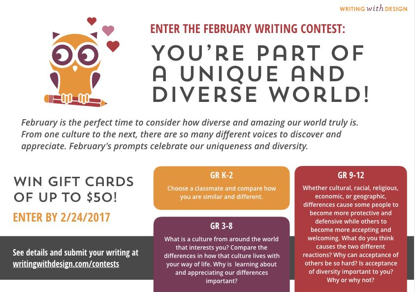 February Writing Contest - Writing with Design