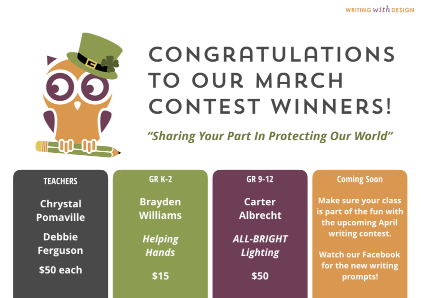 March Writing Contest Winners