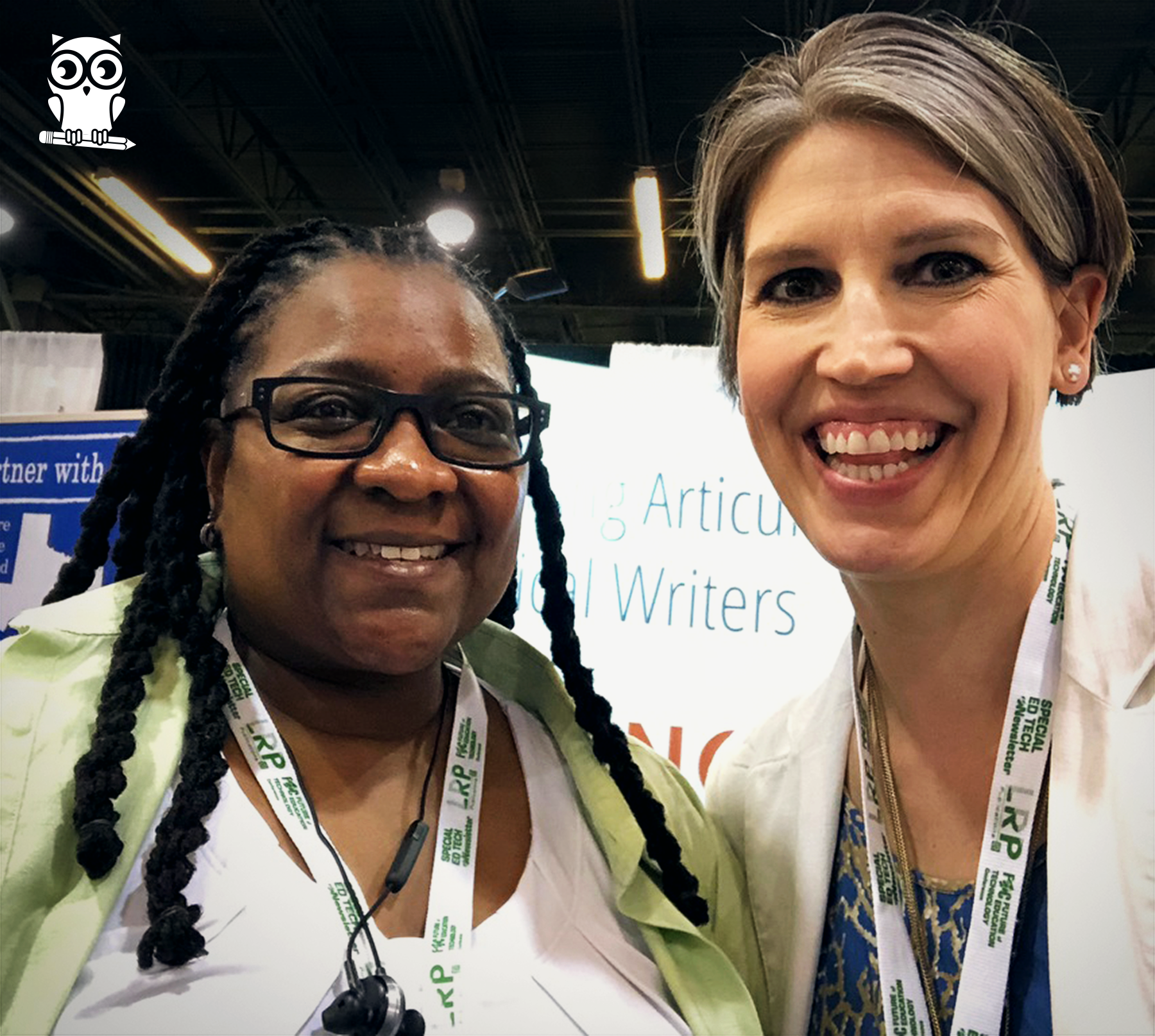 Amber with Jackie Bailey-Moss, Dir. of Special Education & the English Learner Program.