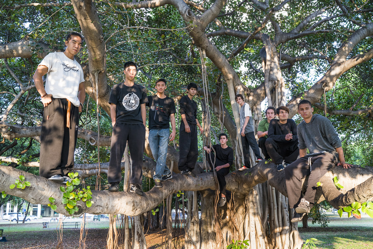 One of the most popular training spots in Honolulu is Ala Moana park