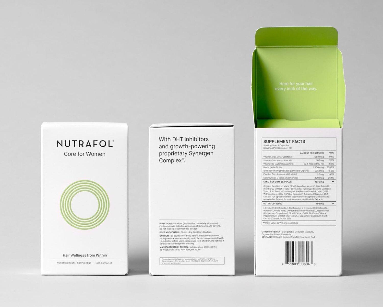 Nutrafol - 2018re-brandingpackagingart direction
