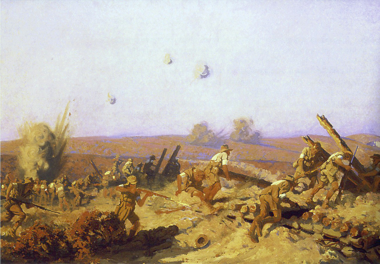 """""""The Battle of Lone Pine"""" by Frederick Leist, 1921"""