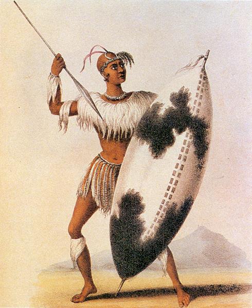 An Ndebele warrior