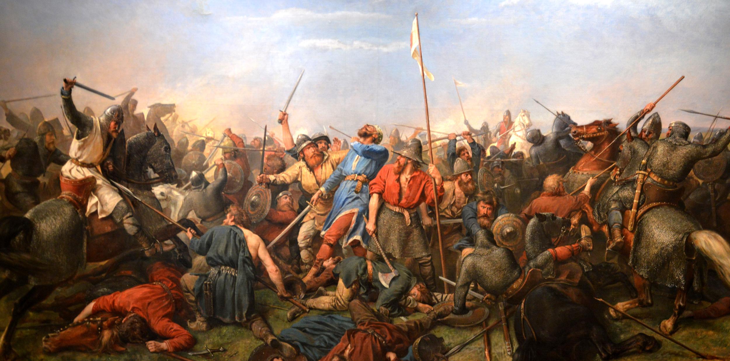 The death of Harald Hardrada at Stamford Bridge