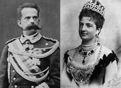 King Umberto I and Queen Margherita