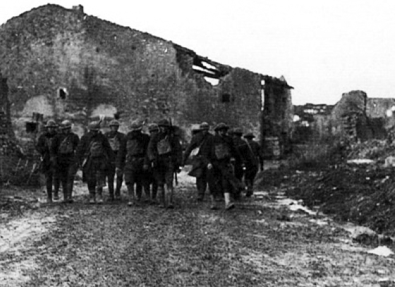 American soldiers in Seicheprey, France