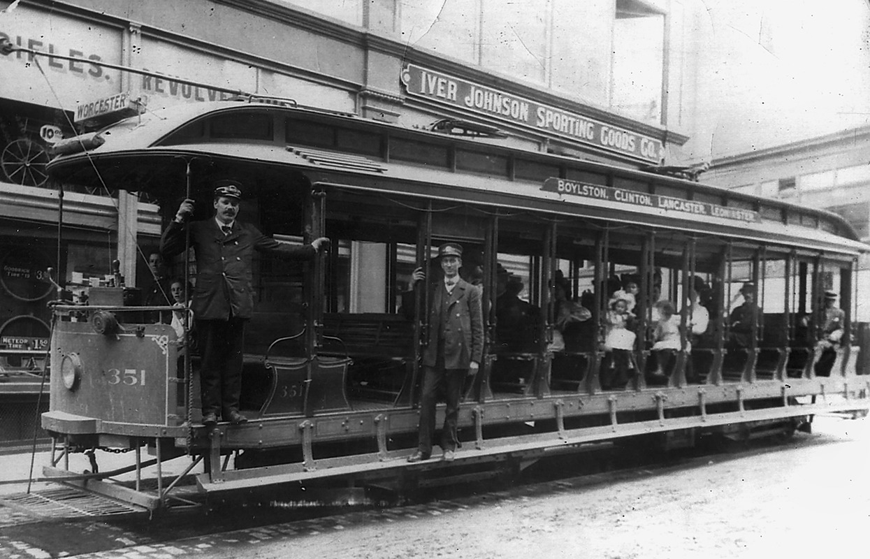 A trolley similar to the one driven by Euclid Madden