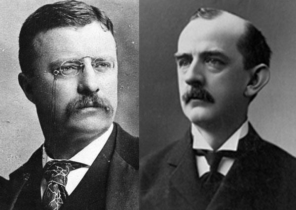 President Roosevelt (l.) and Governor Crane (r.)