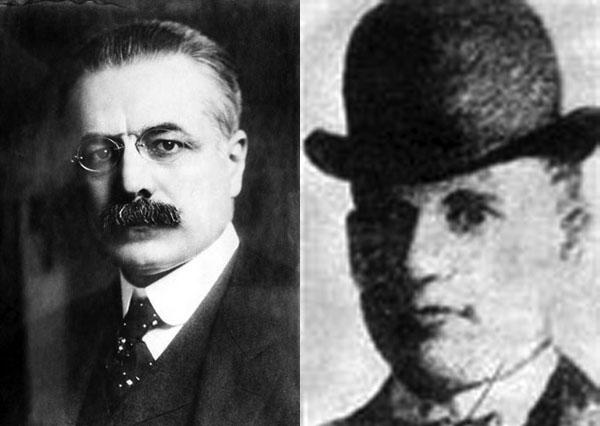 George Cortelyou (l.) and William Craig (r.)