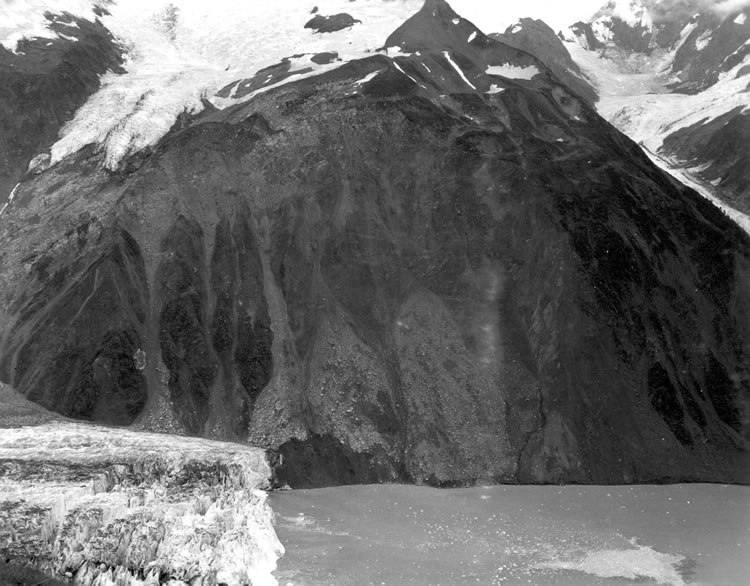 The rock cliff on Gilbert Inlet