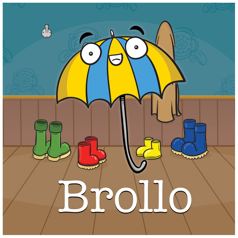 Brollo - the umbrella who doesn't like the rain