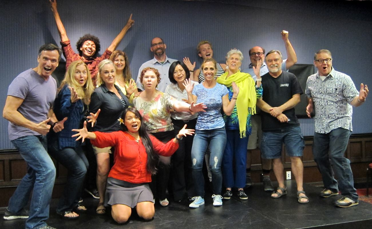 This team of corporate leaders, professionals and entrepreneurs did not know eachother before their Improv experience.