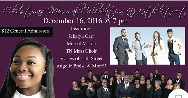 Come on out and celebrate with us Dec. 16th @ 7pm feat @jekalyncarr @tnmasschoir and more!!