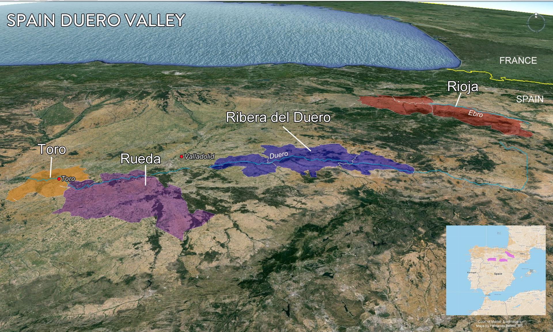 Map Duero Valley