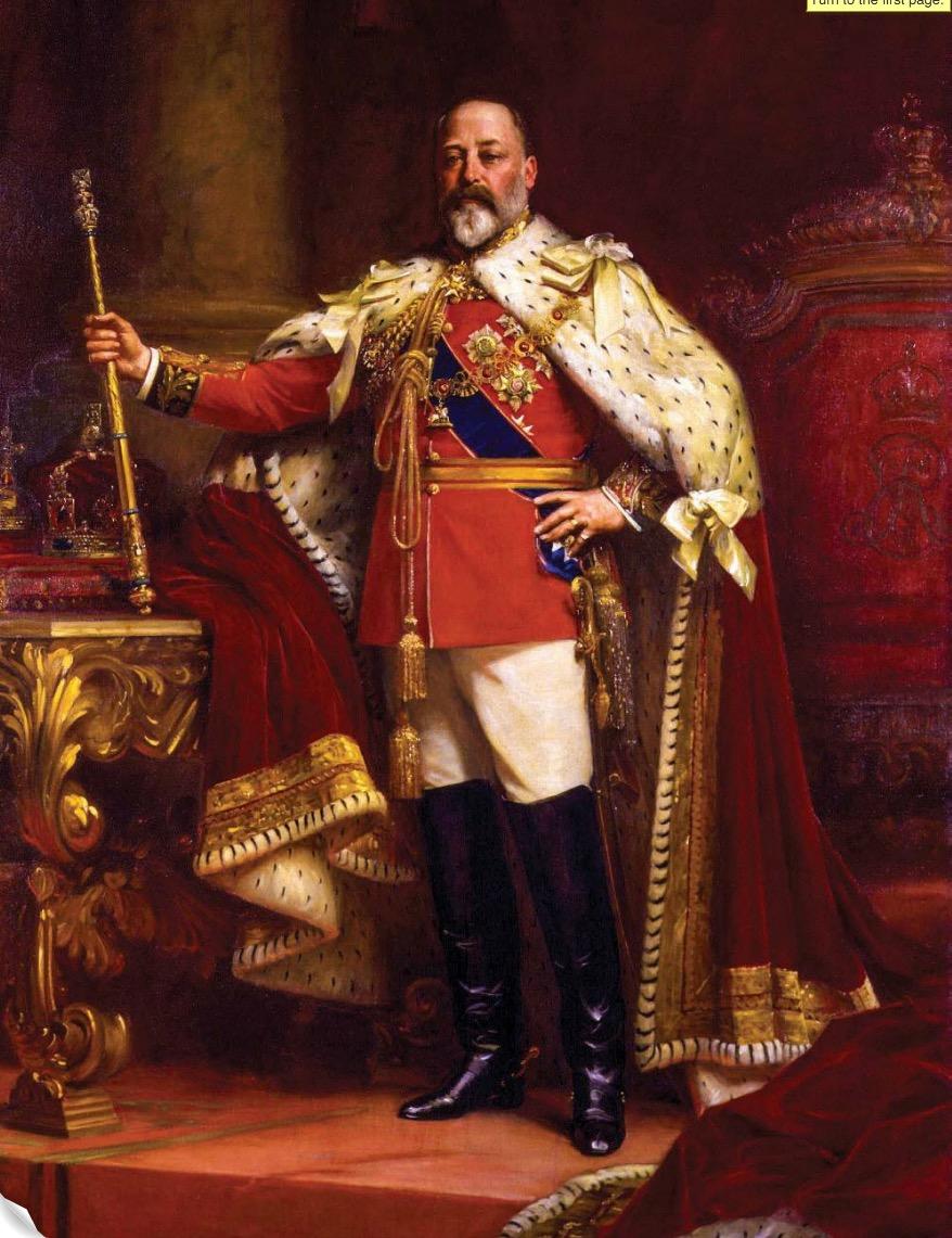 "King Edward VII, nicknamed ""Edward the Caresser"""