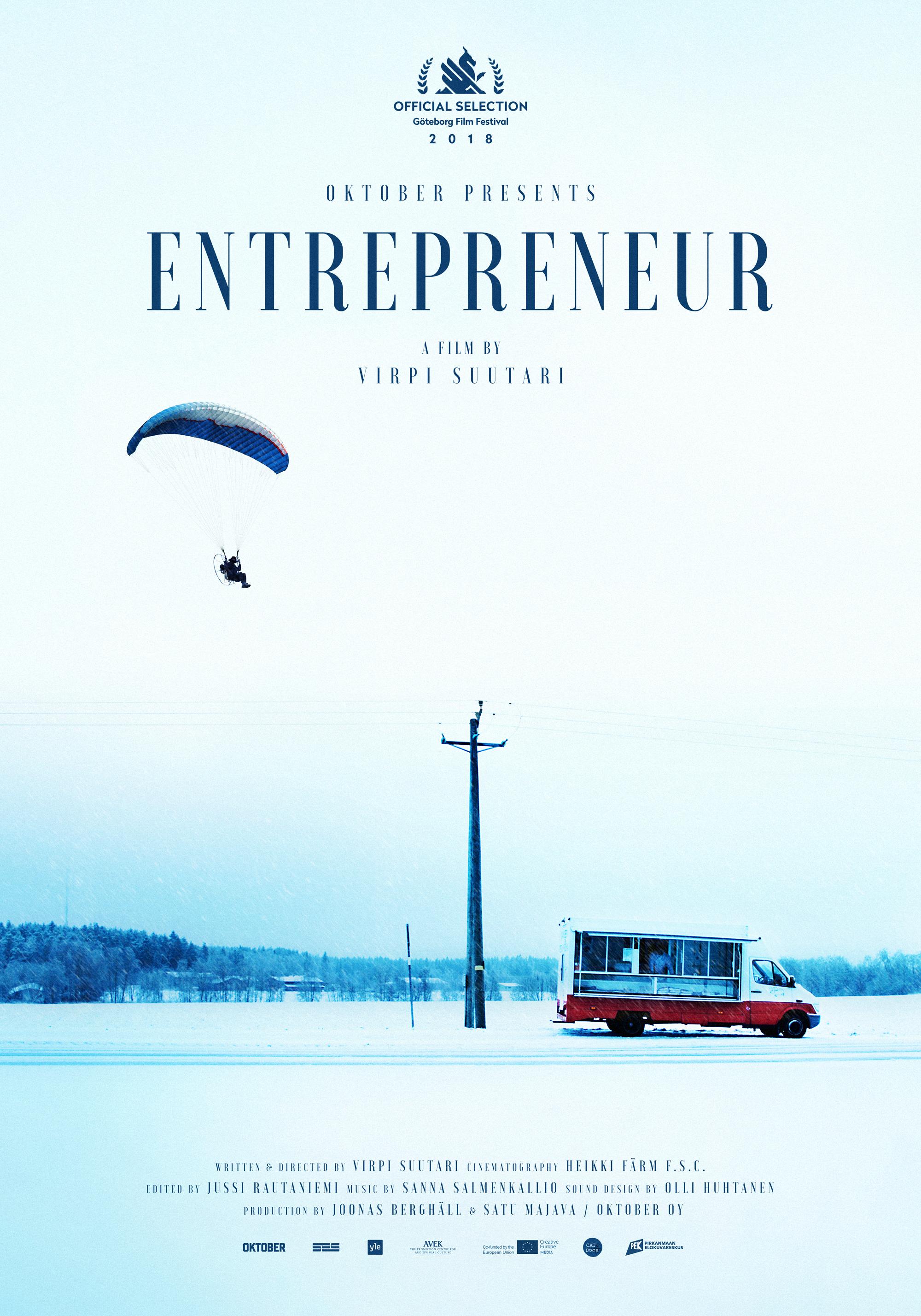 The Entrepreneur -  Feature documentary dir. Virpi Suutari Oktober / 2018