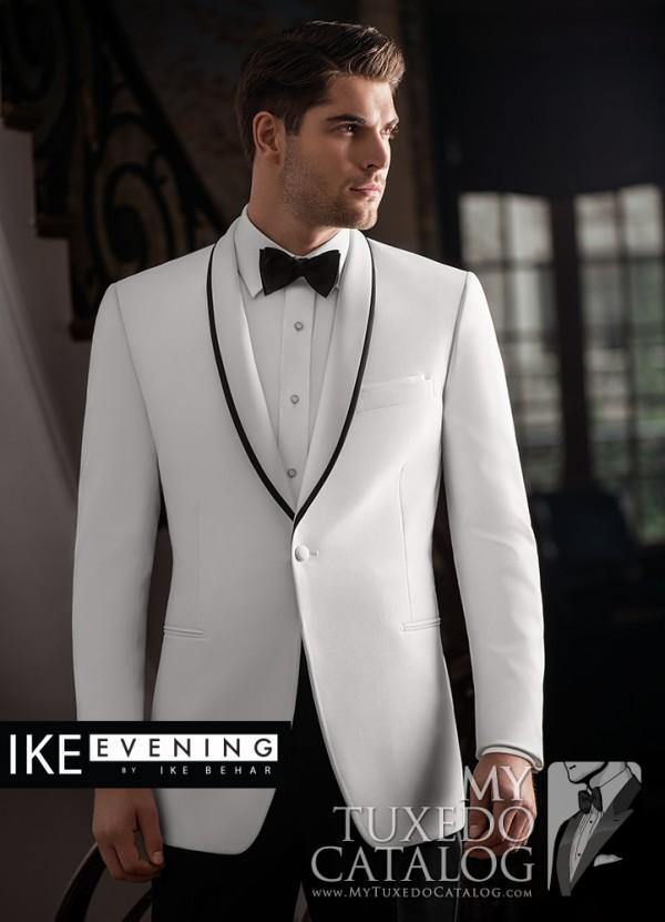 White 'Waverly' Tuxedo by Ike Behar