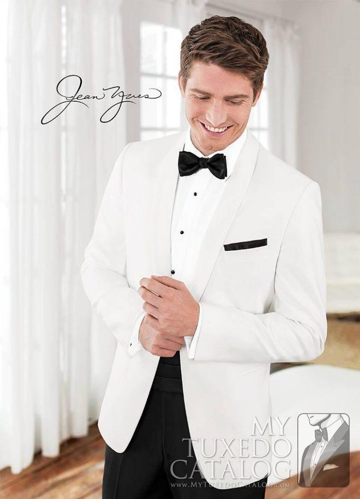 White 'Modern Essential' Dinner Jacket by Jean Yves