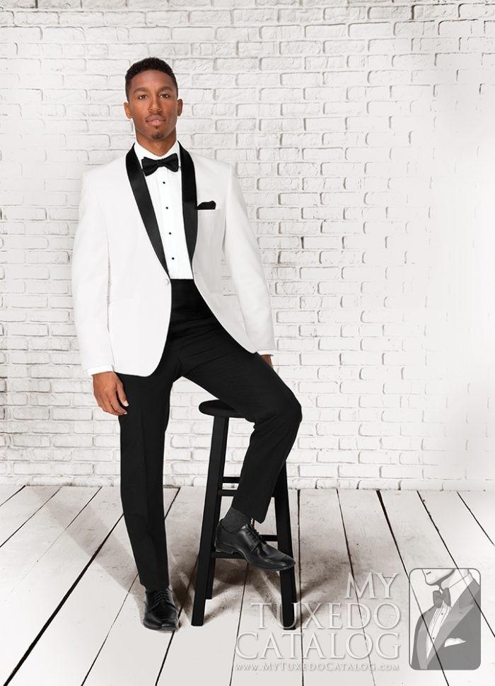 "White 'Clayton"" Tuxedo by Select Formalwear"