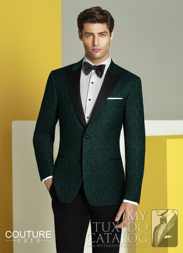 Green 'Chase' Ultra Slim Tuxedo by Couture 1910