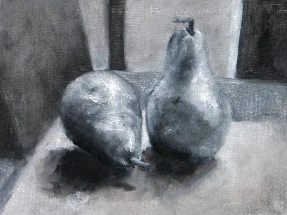 Pears in Monochrome