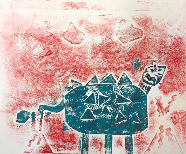 Printmaking with Creature Collographs