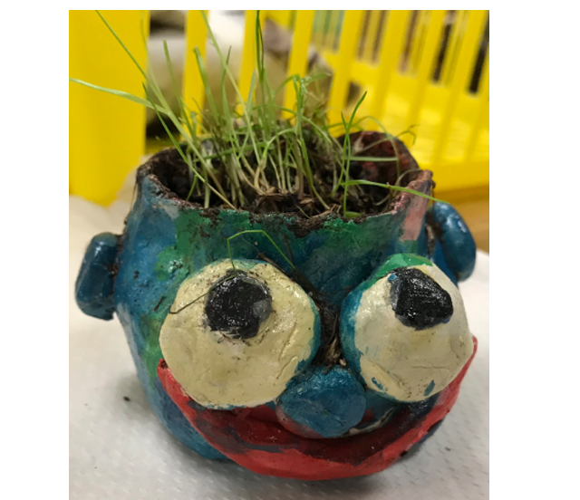 "Pinch Pot Faces & ""Hair""   1st Grade  Prospect Hill Elementary School"