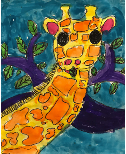 Drawing & Painting Animals in Warm and Cool Tones   1st Grade  Prospect Hill Elementary School