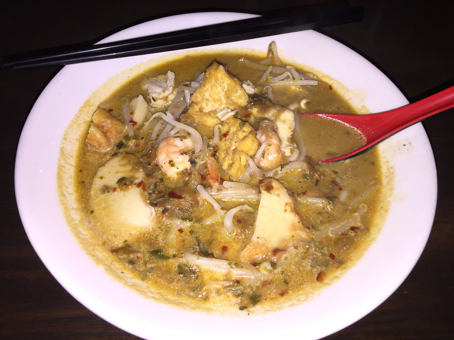 Curry Laksa @ Coco in Elmhurst Chinatown. A little taste of Southeast Asia in the heart of Queens.