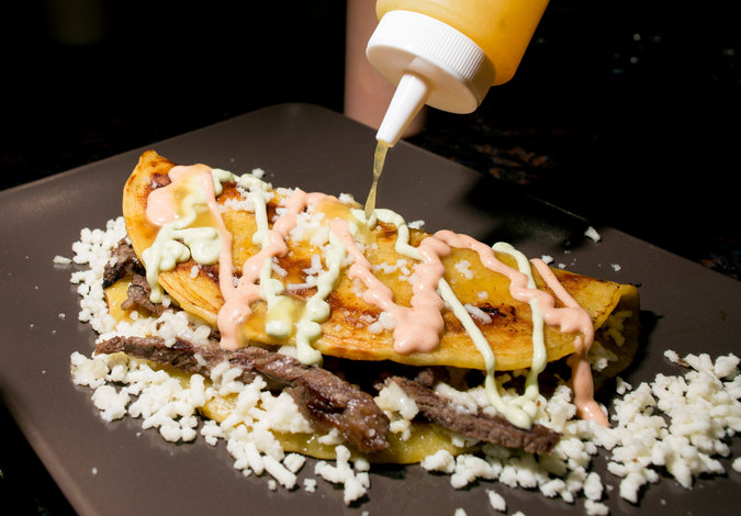 Artery clogging Arepa Lady arepas. Google Images.