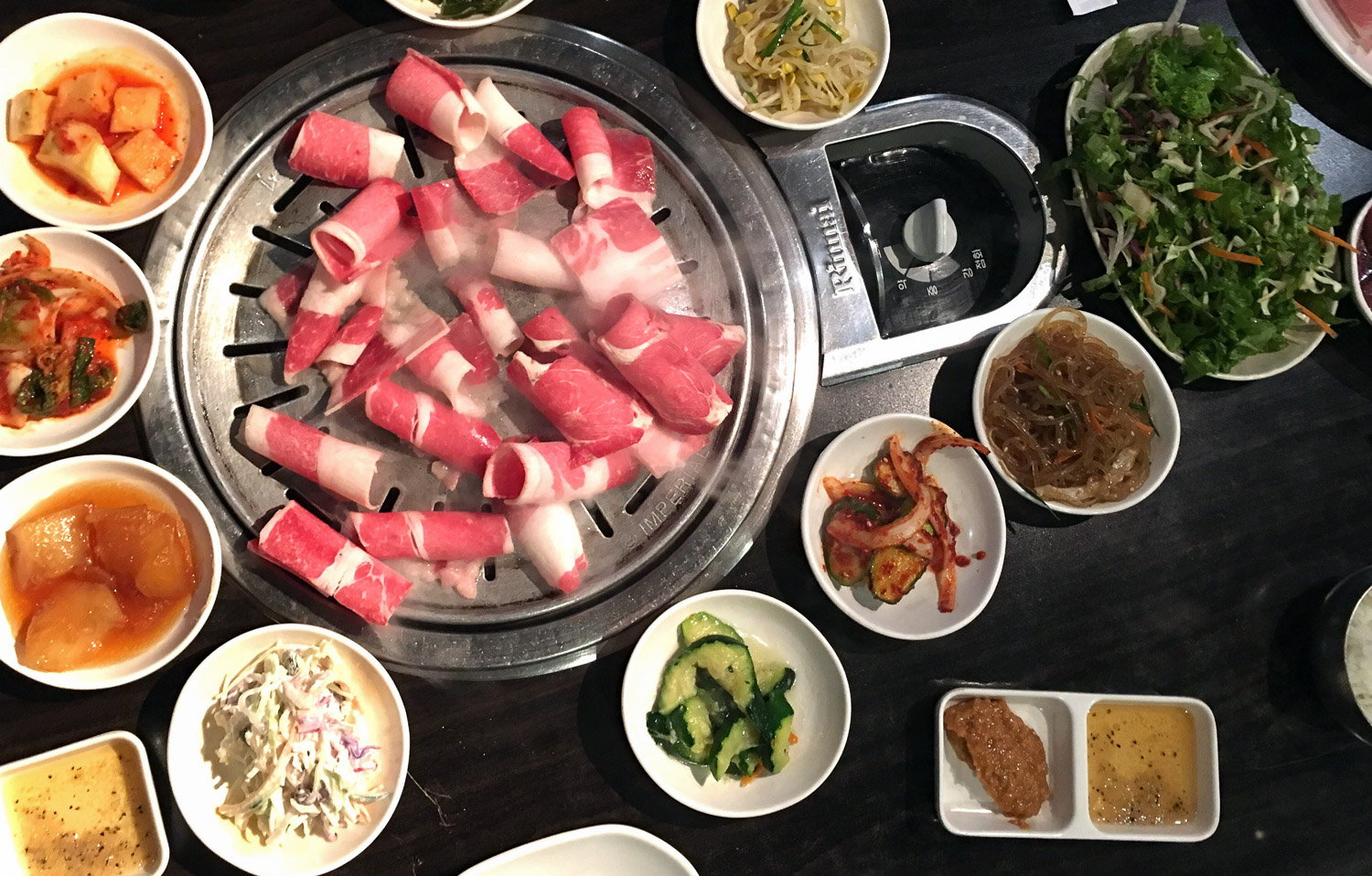 BBQ and banchan. Google Images.