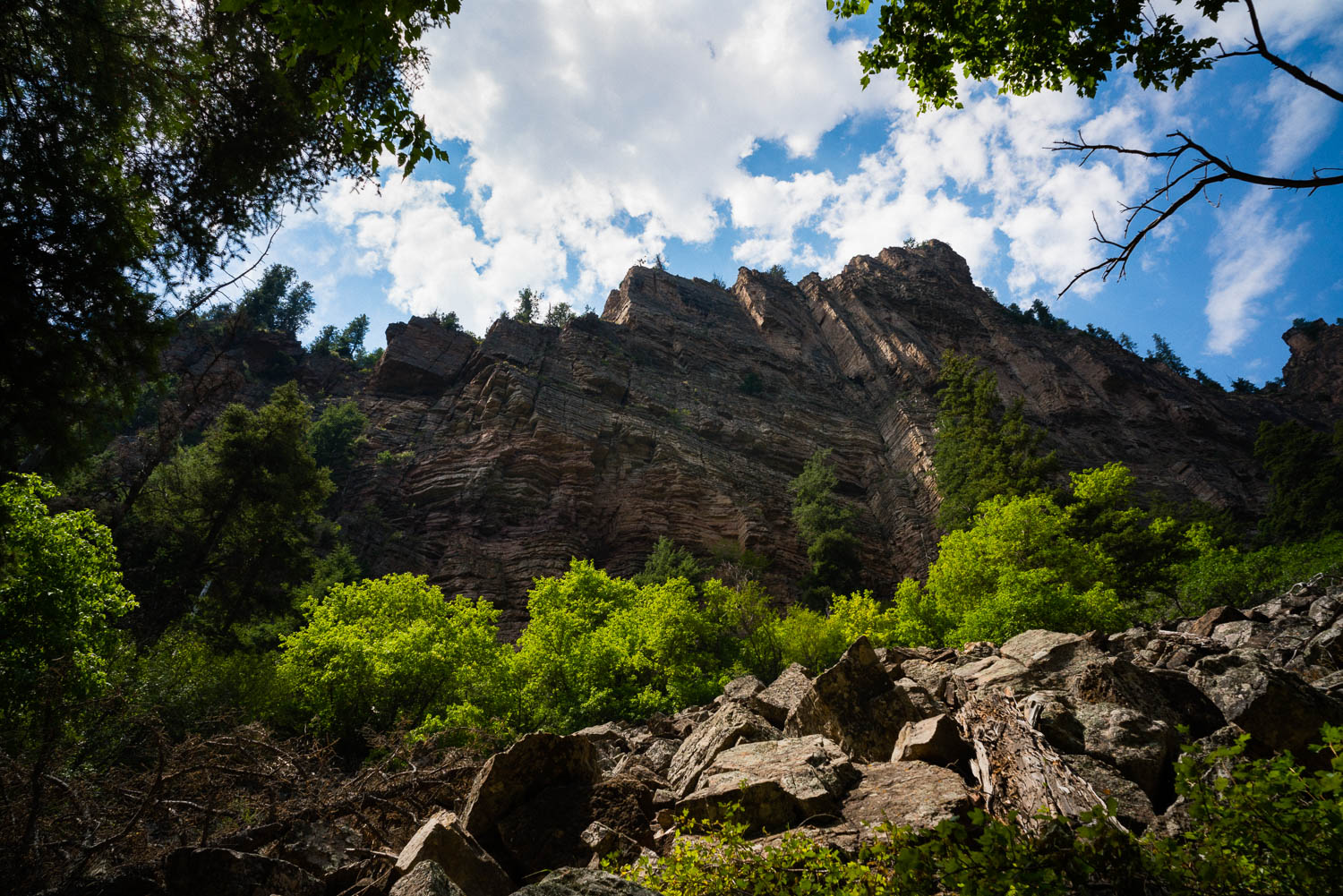 The hike up to Hanging Lake, Glenwood Canyon