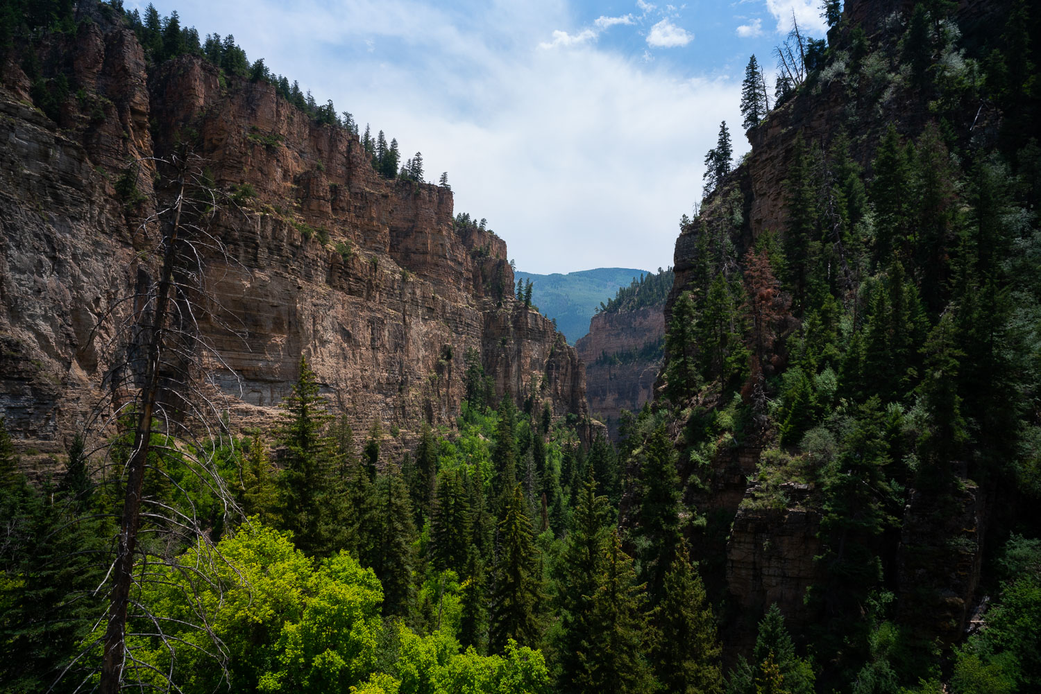 The view from the top of Hanging Lake.